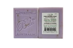 TRIPLE MILLED PURE NATURAL SOAP LAVENDER & FLOWERS