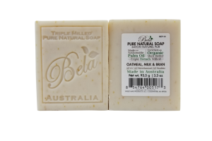 TRIPLE MILLED PURE NATURAL SOAP OATMEAL, MILK & BRAN