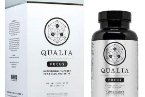 QUALIA NUTRITIONAL SUPPORT FOR FOCUS AND DRIVE DIETARY SUPPLEMENT CAPSULES