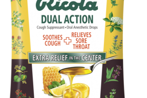 DUAL ACTION COUGH SUPPRESSANT. ORAL ANESTHETIC DROPS HONEY LEMON