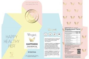 HAPPINESS 15MG CBD/SERVING + MOOD SUPPORT COMPLEX* FULL SPECTRUM HEMP EXTRACT DIETARY SUPPLEMENT
