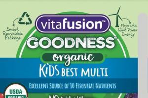 ORGANIC KIDS BEST MULTI DIETARY SUPPLEMENT GUMMIES MIXED BERRY