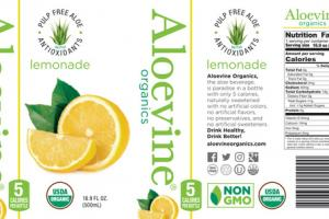 PULP FREE ALOE WITH ANTIOXIDANTS LEMONADE