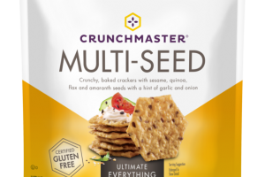 ULTIMATE EVERYTHING MULTI-SEED CRUNCHY, BAKED CRACKERS WITH SESAME, QUINOA, FLAX AND AMARANTH SEEDS WITH A HINT OF GARLIC AND ONION