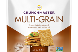 SEA SALT CRUNCHY, BAKED CRACKERS WITH WHOLE GRAINS, SEEDS AND SEA SALT MULTI-GRAIN