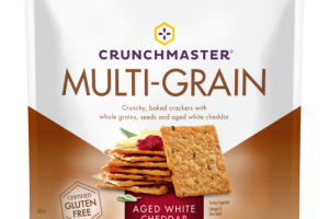 MULTI-GRAIN CRUNCHY, BAKED CRACKERS WITH WHOLE GRAINS, SEEDS AND AGED WHITE CHEDDAR