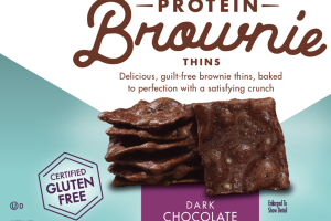 DARK CHOCOLATE PROTEIN BROWNIE THINS