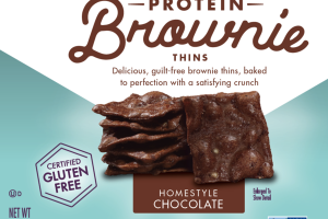 HOMESTYLE CHOCOLATE PROTEIN BROWNIE THINS