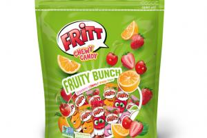 FRUITY BUNCH STRAWBERRY // CHERRY // ORANGE FLAVOR CHEWY CANDY STRIPS