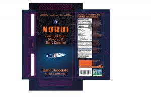 SEA BUCKTHORN FLAVORED & SALTY CARAMEL DARK CHOCOLATE