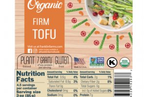 ORGANIC PLANT BASED FIRM TOFU