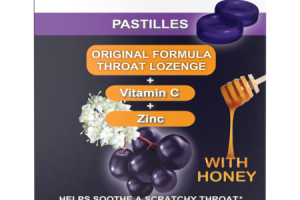 PASTILLES HELPS SOOTHE A SCRATCHY THROAT DIETARY SUPPLEMENT WITH HONEY