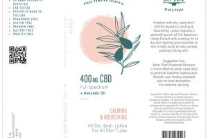 400 MG CBD FULL SPECTRUM + AVOCADO OIL CALMING & NOURISHING BODY LOTION