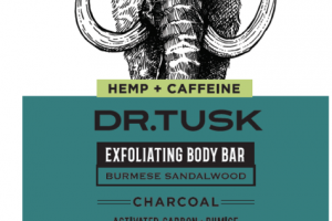 HEMP + CAFFEINE EXFOLIATING BODY BAR CHARCOAL