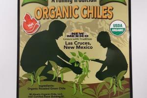 HOT LEVEL FLAME-ROASTED WHOLE CHILES ORGANIC CHILES