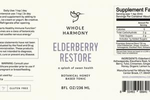 RESTORE DIETARY SUPPLEMENT ELDERBERRY