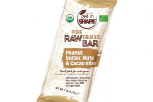 PEANUT BUTTER, NUTS & CACAO NIBS PURE ORGANIC RAW BAR