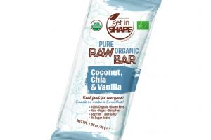COCONUT, CHIA & VANILLA PURE ORGANIC RAW BAR