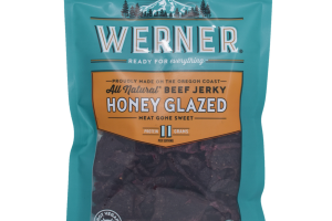 HONEY GLAZED ALL NATURAL BEEF JERKY