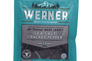 REAL SEA SALT AND CRACKED PEPPER BEEF JERKY