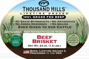 100% GRASS FED BEEF BRISKET