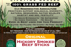ORIGINAL HICKORY SMOKED 100% GRASS FED BEEF STICKS