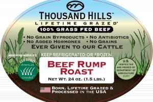 100% GRASS FED BEEF RUMP ROAST