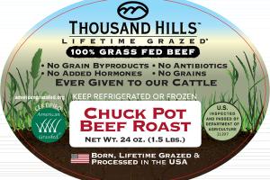 CHUCK POT 100% GRASS FED BEEF ROAST