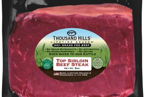 TOP SIRLOIN 100% GRASS FED BEEF STEAK