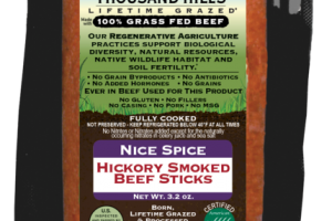 NICE SPICE 100% GRASS FED HICKORY SMOKED BEEF STICKS