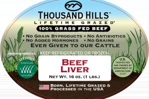 100% GRASS FED BEEF LIVER