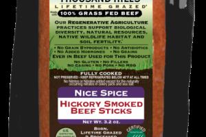 NICE SPICE 100% GRASS FED HICKORY SMOKED BEEF STICKS