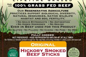 ORIGINAL HICKORY SMOKED 100% GRASS FED BEEF STICKS