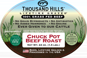 CHUCK POT 100% GRASS FED BEEF ROAST