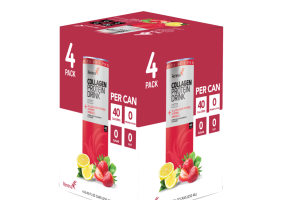 LEMON AND STRAWBERRY FLAVORED COLLAGEN PROTEIN DRINK