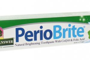 NATURALLY BRIGHTENING TOOTHPASTE WITH COQ10 & FOLIC ACID