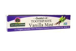 ESSENTIAL OIL TOOTHPASTE VANILLA MINT