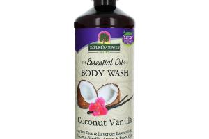ESSENTIAL OIL BODY WASH COCONUT VANILLA