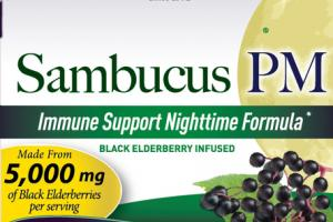 IMMUNE SUPPORT NIGHTTIME FORMULA 5,000 MG BLACK ELDERBERRY INFUSED DIETARY SUPPLEMENT
