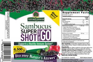 SAMBUCUS SUPER SHOT ON THE GO SUPPORTS A HEALTHY IMMUNE SYSTEM DIETARY SUPPLEMENT MIXED BERRY
