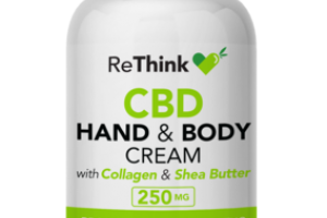 BROAD SPECTRUM ZERO THC CBD 250 MG HAND & BODY CREAM WITH COLLAGEN & SHEA BUTTER