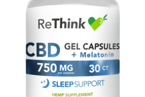 BROAD SPECTRUM ZERO THC CBD 750 MG + MELATONIN SLEEP SUPPORT HEMP SUPPLEMENT GEL CAPSULES