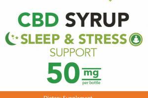 CBD 50 MG SLEEP & STRESS SUPPORT DIETARY SUPPLEMENT SYRUP, MANGO