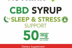 CBD 50 MG SLEEP & STRESS SUPPORT DIETARY SUPPLEMENT SYRUP, STRAWBERRY