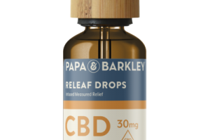 FULL SPECTRUM CANNABIS SATIVA (HEMP) CBD 30 MG HERBAL SUPPLEMENT INFUSED MEASURED RELIEF DROPS, LEMONGRASS GINGER