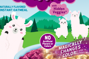 BERRY LLAMA FLAVORED INSTANT OATMEAL WITH HIDDEN VEGGIES*