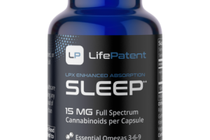 SLEEP LPX ENHANCED ABSORPTION 15 MG FULL SPECTRUM CANNABINOIDS PER CAPSULE ESSENTIAL OMEGAS 3-6-9 HEMP SUPPLEMENT CAPSULES