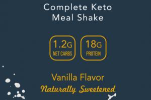 VANILLA FLAVOR COMPLETE KETO MEAL SHAKE