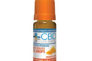 HEMP-DERIVED DIETARY SUPPLEMENT OIL DROPS, ORANGE