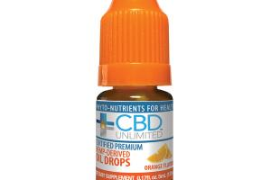 CERTIFIED PREMIUM HEMP-DERIVED OIL DROPS DIETARY SUPPLEMENT, ORANGE